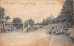 CPA DIGNE - La Route De Sieyes, Le Chemin Des Deux Gares Et Les Travaux D'agrandissement De La Gare Du Sud - Digne