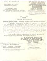 GUERRE INDOCHINE . SAIGON 1951 . ORDRE GENERAL N°1305. GAL ARMEE DE LATTRE TASSIGNY . . CITATION + CROIX GUERRE ... - Dokumente