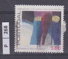 PORTOGALLO   1979Protezione Dal Rumore 5,00 Usato - Used Stamps
