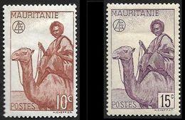 MAURITANIE  1943 -  YT  125 Et 126 - Maure  Sans RF -  NEUFS* - Unused Stamps