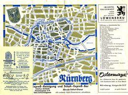 NÜRNBERG : Hôtel Kaiserhof - Location Chambre Avec Plan De La Ville Et Publicités Au Verso - Advertising