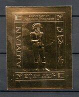 J1-16 Emirats Arabes Unis Ajman Timbre En OR Napoléon Bonaparte** - Ajman