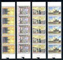 BE   2642 - 2645  XX   ---  Bruxelles  --  Bandes De 5 , Tous N° De Planche 1  --  Parfait état - Unused Stamps