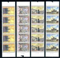 BE   2642 - 2645  XX   ---  Bruxelles  --  Bandes De 5 Avec N° De Planche  --  Parfait état - Unused Stamps