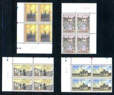 BE   2642 - 2645  XX   ---  Bruxelles  --  Blocs De 4 Coin De Feuille  --  Parfait état - Dated Corners