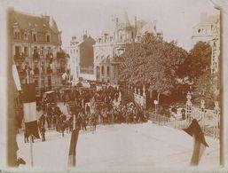Rare Photo 120 Mm X 90 Mm - Visite Du Tsar Nicolas II à Reims 51 (Marne) - 1901 - Automobiles Des Officiers -  Scan R/V - Places