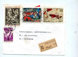 Lettre Recommandée Cachet Saint Malo Sur  Lascaux Gauguin Bourdelle - Maschinenstempel (Werbestempel)