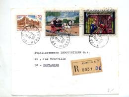 Lettre Recommandée Cachet Saint Malo Sur  Troyes Rousseau - Poststempel (Briefe)