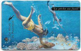 French Polynesia - OPT - La Peche Au Fusil - Gem1B Not Symm. White/Gold, 07.1998, 30Units, 60.000ex, Used - Polinesia Francese