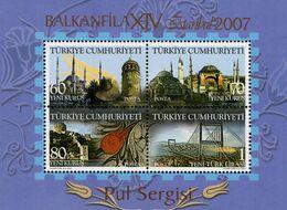 Turkey - 2007 - Balkanfila Stamp Exhibition - Mint Souvenir Sheet - 1921-... República