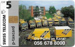 Switzerland - Swisscom (Chip) - Privates - STPC-TS-009 - Die Profis Im Kanal - 09.1996, 5Fr, Used - Suisse