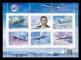 Russia 2019 Mih. 2781/85 (Bl.286) Aviation. Ilyushin Aircrafts MNH ** - Ongebruikt