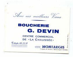 Calendrier Montargis Boucherie Devin La Chaussée 1979 - Calendari