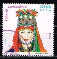Türkei 2000, Michel# 3228 O  Traditional Turkish Women's Headcovers, 2000 - 1921-... Republic