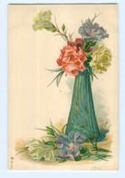 Y6911/ Blumen Blumenvase Litho AK  Ca.1900 - Sin Clasificación