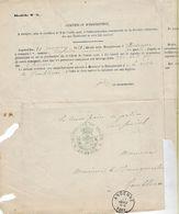 -Ensembles De Documents(1855/65/7881//88/80/1891)certificat D'inscription à Gembloux - 1800 – 1899