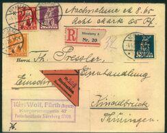 1920, Einschrieben-Nachnahme Ab NÜRNBERG - Lettere