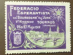 Werbemarke Cinderella Poster Stamp    Federacio Esperantista De Bourgogne 1912  #260 - Erinnophilie