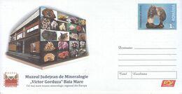 ROMANIA : MINERALS MUSEUM Unused Prepaid Cover 017/2018 - Registered Shipping! - Interi Postali