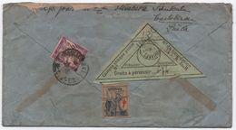 TAXE 2F Violet Banderole Duval Paris Droits Dédouanement / Lettre De Suède 1936 étiquette DOUANES - 1859-1955 Storia Postale