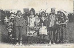 SAINT VAAST La HOUGUE: Kermesse Enfantine Sur La Plage - Libr. Laurentle Repas Des Moissonneurs - Saint Vaast La Hougue