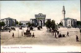 Cp Konstantinopel Istanbul Türkei, Place Du Séraskiérat - Türkei