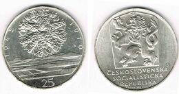 25 Kronen 1970 Tschechoslowakei Silbergedenkmünze 25 Kronen 1970, 25 Jahre Befreiung - Repubblica Ceca