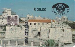 Nº 003 TARJETA DE CUBA DEL CASTILLO DE LA REAL FUERZA (CON ESCRITO DELANTE) - Kuba