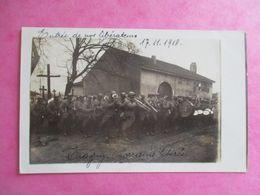 57 PHOTO TRAGNY GUERRE 1914-1918 ENTRÉE DE NOS LIBÉRATEURS SOLDATS FANFARE - Frankreich
