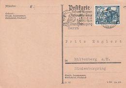 """Deutsches Reich / 1933 / Mi. 500 """"Nothilfe"""" Auf Postkarte, Stempel Leipzig """"R.Wagner-Denkmal"""" (DA56) - Germany"""