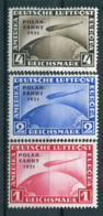 Deutsches Reich - Michel 456-458 Polarfahrt Ungebr.*/MH Mit Papieranhaftungen (keine Dünnen Stellen/no Thins) - Unused Stamps