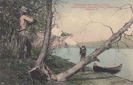 Deerslayer & Indian, OTESEGO LAKE , New York , 00-10s - Indianer