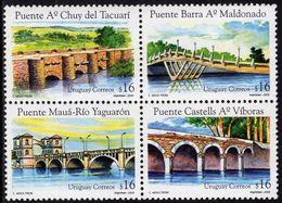 Uruguay - 2005 - Bridges Of Uruguay - Mint Stamp Set (se-tenant Block) - Uruguay