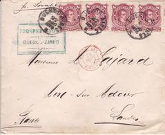 LSC Buenos Aire Pour Aire Sur L'Adour Voie Maritime Cachet D'entrée à Bordeaux 1879 - Lettres & Documents