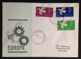 Cyprus, Addressed FDC To Switzerland, « EUROPA CEPT », 1962 - Europa-CEPT