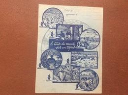 PROTEGE-CAHIERS  J.ALLIBERT  Le Tour D'un Monde Sur Un Tapis  MONESTIER-DE-CLERMONT  Isère - Copertine Di Libri