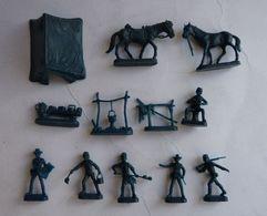 équivalence De BTE ATLANTIC Réf 1207 Camp Cavalerie US 1/72 Sans La Boîte No Airfix Matchbox Esci ... Manque 1 Pièce - Army