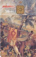 Nº265 TARJETA DE MALTA DE LA 2ª SERIE DE TAPICES (VACA-COW) - Malta