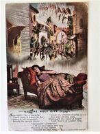Oude Postkaart Dd 28/12/1918 Carte P. Van Frontsoldaat Julien De Corte Aan Zijn Zus In Montsoult  Les Enfants De L'Yser - Montsoult