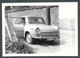PIN UP à Bord De Sa Voiture Automobile Ancienne SEDAN - PHOTO Originale - Automobile