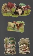 4 Découpis VACHES Dont 1 Décollé D'un Album     113 - Animals