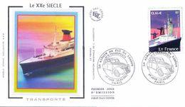 Enveloppe 1er Jour Avec Timbre Yt 3473, Le Siècle Au Fil Des Timbres, Le France 2002 - 2000-2009
