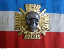 """ATTRIBUT BRASSARD DES CROIX DE FEU 1927-1936 MOUVEMENT POLITIQUE D'ANCIENS COMBATTANTS  """" POILUS""""  (Cap Badge) - Militair"""