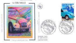 Enveloppe 1er Jour Avec Timbre Yt 3474, Le Siècle Au Fil Des Timbres, La 2 Cv 2002 - 2000-2009