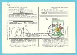 1123 Op Kaart (type)965 Voor TAXE DE REEXPEDITION Met Stempel FLOREFFE Van Postkantoor MONS - Covers & Documents