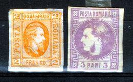 ROMANIA  1865  2  PARA MH  1868  3 BANI  MH - 1858-1880 Moldavia & Principality