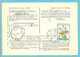 1123 Op Kaart (type)965 Voor TAXE DE REEXPEDITION Met Stempel CHARLEROI Van Postkantoor LUTTRE - Covers & Documents