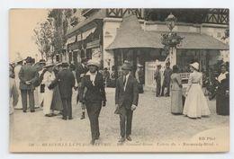RARE VISUEL CPA CALVADOS DEAUVILLE LA PLAGE FLEURIE GROS PLAN ANIME ENTREE NORMANDY HOTEL TBE - Deauville