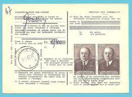 997 Op Kaart (type)965 Voor TAXE DE REEXPEDITION Met Stempel GOSSELIES Van Postkantoor CHARLEROI - Covers & Documents