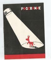 PROGRAMME THEATRE CABARET TROIS BAUDETS 1953 MAY BERNADET PECH MARIONNETTE Marionnettiste - Programmes